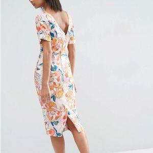 ASOS Midi Bright Floral Dress
